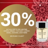 30% auf alle Düfte von Lancôme, YSL, Armani, Diesel, Cacharel & Biotherm bei Import Parfumerie, z.B. Diesel Bad Intense Eau de Parfum für CHF 54.50 statt CHF 77.90