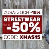 15% zusätzlich auf bereits reduzierte Streetwear bei Blue Tomato, z.B. Empyre Girls Fredrik T-Shirt für CHF 14.87 statt CHF 35.05