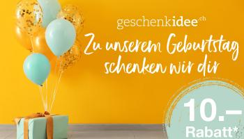 Geschenkidee.ch: 10 Franken Rabatt ab MBW 40 Franken
