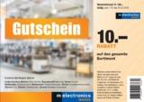 [Zürich] melectronics 10 CHF Rabatt ab 100 CHF