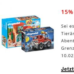 15% auf Playmobil bei microspot.ch, z.B. Playmobil Turnhalle für CHF 32.30 statt CHF 38.-