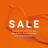 15% auf Brillen, Kontaktlinsen und Sonnenbrillen bei Mister Spex
