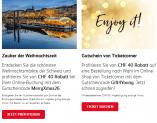 Ticketcorner 40.- Gutschein ab MBW 60.- / SBB 40.- ohne MBW