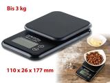 Kompakte Digitalwaage mit Touchbedienung für Küche und Büro, bis 3 kg