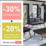 30% auf Mode-Artikel und 20% auf Home- und weitere Artikel bei La Redoute, z.B. La Redoute Interieurs Gartensofa Julma für CHF 487.20 statt CHF 609.-