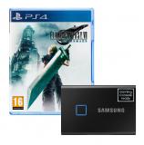 Komisches Bundle – Final Fantasy VII Remake + Samsung SSD T7 Touch 1TB bei brack