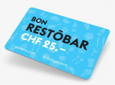 Restôbar-Karte – CHF 25.- Ermässigung in den Genfer Restaurants
