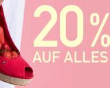 Nur heute: 20% auf fast alles bei Ochsner Shoes