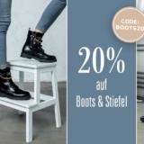 Nur heute: 20% auf Boots und Stiefel bei Ochsner Shoes, z.B. Tamaris Stiefelette Tora für CHF 95.92 statt CHF 119.90