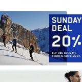 Nur heute: 20% auf das Outdoor- und Tourensortiment, Fitnessgeräte und ausgewählte Fussballschuhe bei Ochsner Sport