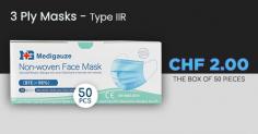 50er Pack MASKEN für 2 CHF (TYP IIR) – ab Mitternacht