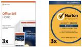 3x Microsoft Office 365 Home plus 3x Norton Security Deluxe Lizenzen im Bundle bei digitec