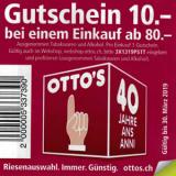 CHF 10.- Rabatt bei Otto's (MBW CHF 80.-)