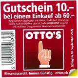 OTTO'S: Neuer CHF 10.- Gutschein ab CHF 60.-
