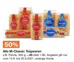 50% auf M-Classic Teigwaren
