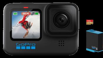 GoPro Hero 10 inkl. Ersatzakku und 32GB microSD + 1 Jahr GoPro Abo oder im Zubehör-Bundle