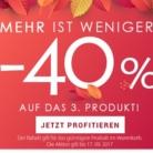 40% auf das dritte Produkt bei Parfumcity