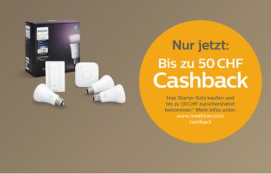 Philips Hue Starter-Set Cashback Aktion – bis 35% günstiger