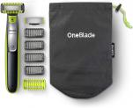 Philips OneBlade Face & Body mit 2 Klingen, 4 Trimmaufsätzen und 2 Körperaufsätzen
