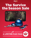"Plex: Lebenslanger Plex Pass im ""Survive the Season Sale"""