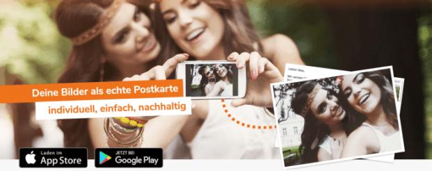 1 Postkarte weltweit gratis verschicken mit Postando