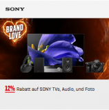 12% auf Sony TV; Audio und Foto