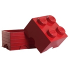 LEGO Roter Aufbewahrungsstein mit 4 Noppen