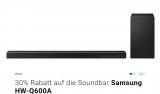 30% auf Samsung ATMOS Soundbar Q600A beim Kauf eines Samsung QLED oder Neo QLED