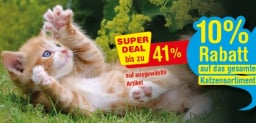 10% auf das gesamte Katzensortiment bei Qualipet, ausgewählte Artikel sogar stärker reduziert