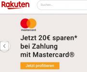 Rakuten.de: 20€ Rabatt ab 50€ Umsatz bei Zahlung mit Mastercard