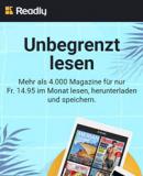 2 Monate Readly Zeitschriften-Flatrate für CHF 0.95 (idealer Sommer-Deal für die Ferienzeit)