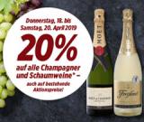 20% Rabatt auf alle Champagner und Schaumweine (auch auf bestehende Aktionspreise) bei Denner
