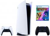 Playstation 5 / PS5 inkl. zusätzlichem Midnight Black Controller + Ratchet & Clank: Rift Apart Bundle bei melectronics