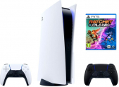 Sony PS5 / Playstation 5 Bundle inkl. Controller Midnight Black + Ratchet & Clank bei Melectronics