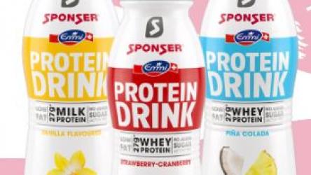 20% Rabatt auf den neuen Protein Drink von Sponser
