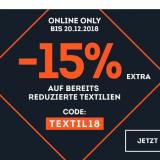 15% auf bereits reduzierte Textilien bei SportScheck