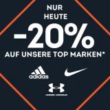 Nur heute: 20% auf adidas, Nike und Under Armour bei SportScheck