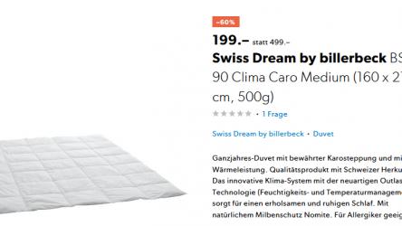 60% auf Swiss Dream by billerbeck bei Galaxus