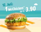 Nur heute: McChicken für CHF 3.90 bei McDonalds