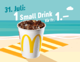 McDonalds Sommerhits: Heute Small Drink