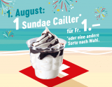 McDonalds Sommerhits: Heute Sundae für 1.- CHF