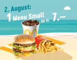 McDonalds Sommerhits: Heute Menu Small für 7.- CHF
