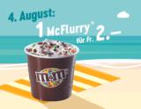 McDonalds Sommerhits: Heute McFlurry für CHF 2.-