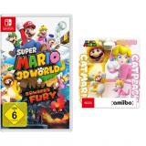 Super Mario 3D World & Bowser's Fury + amiibo Mario & Peach Katzen-Figuren bei Amazon.de