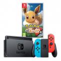 NINTENDO Switch Neon Blue/Red inkl. Pokémon: Let's Go Evoli!