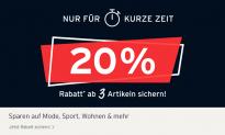 Tchibo: 20% zusätzlicher Rabatt beim Kauf ab 3 reduzierten Artikeln