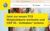 TCS Mastercard (für Mitglieder) mit 50 CHF Startguthaben