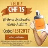 Gutschein über CHF 15.- bei Parfumcity ab Einkaufswert CHF 60.-
