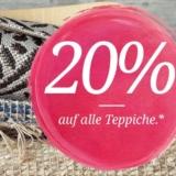 20% auf Teppiche und Felle bei toptip, z.B. Teppich Shake für CHF 279.20 statt CHF 349.-