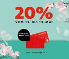 20% Tage bei Manor (gratis Kundenkarte erforderlich)